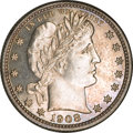Proof Barber Quarters, 1908 Barber Quarter PR62 NGC....