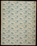 Obsoletes By State:Ohio, Cuyahoga Falls, OH- W.A. Hanford 10¢ (30) - 50¢ (6) 1862 Wolka943-06 Uncut Sheet. ...