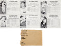 Baseball Cards:Sets, 1948 W725 Los Angeles Angels Team Issue Complete Set (26) - With Original Envelope. ...