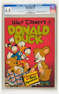 Golden Age (1938-1955):Cartoon Character, Four Color #178 Donald Duck (Dell, 1947) CGC FN+ 6.5 Cream to off-white pages....