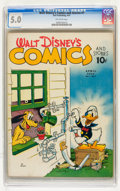 Golden Age (1938-1955):Cartoon Character, Walt Disney's Comics and Stories #7 (Dell, 1941) CGC VG/FN 5.0Off-white pages....
