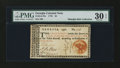 Colonial Notes:Georgia, Georgia 1776 $4 Orange Seal PMG Very Fine 30 EPQ....
