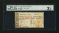 Colonial Notes:Georgia, Georgia 1776 $10 Orange Seal PMG Choice Very Fine 35....