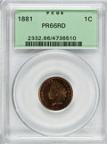 Proof Indian Cents, 1881 1C PR66 Red PCGS....