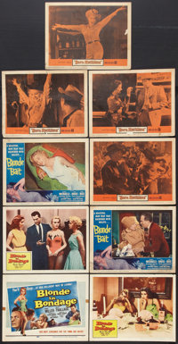 """Bad Girls Lot (Various, 1956-1959). Title Lobby Card and Lobby Cards (8) (11"""" X 14""""). Bad Girl. ... (Total: 9..."""