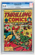 Golden Age (1938-1955):Superhero, Thrilling Comics #44 (Better Publications, 1944) CGC VG/FN 5.0 Cream to off-white pages....