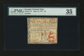 Colonial Notes:Georgia, Georgia September 10, 1777 $4 PMG Choice Very Fine 35....