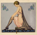 Paintings, COLES PHILLIPS (American, 1880-1927). Holeproof Hosiery Company ad illustration, 1922. Watercolor on paper. 24 x 25 in....