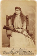 Photography:Cabinet Photos, Annie Oakley: Very Scarce Cabinet Card Pose....