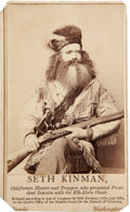 Photography:CDVs, Matthew Brady CDV: California Mountain Man....