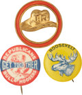 Political:Pinback Buttons (1896-present), Theodore Roosevelt: Three Great 1912 Bull Moose Pinbacks.... (Total: 3 Items)