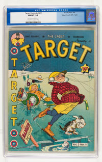 Target Comics V3#11 Mile High pedigree (Novelty Press, 1943) CGC NM/MT 9.8 Off-white to white pages