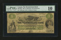 Canadian Currency: , Moncton, NB- The Westmoreland Bank $1 1861 Ch. # 800-12-02a. ...