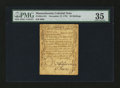 Colonial Notes:Massachusetts, Massachusetts November 17, 1776 36s PMG Choice Very Fine 35....