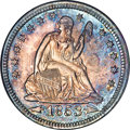 Proof Seated Quarters, 1853 25C Arrows and Rays PR67 NGC....