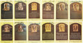 Baseball Collectibles:Others, Baseball Hall of Fame Signed Plaque Postcards Lot of 24....