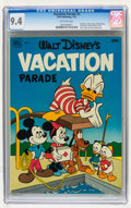 Golden Age (1938-1955):Cartoon Character, Dell Giant Comics: Vacation Parade #3 (Dell, 1952) CGC NM 9.4Off-white pages....