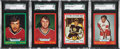 Hockey Cards:Lots, 1973 O-Pee-Chee SGC Graded Cards Lot of 4. ...
