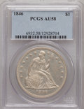 Seated Dollars, 1846 $1 AU58 PCGS....