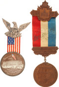Political:Ribbons & Badges, Republican National Convention: 1896 and 1900 Badges.... (Total: 2 Items)