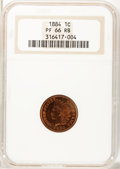 Proof Indian Cents, 1884 1C PR66 Red and Brown NGC....