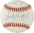 Autographs:Baseballs, Dodgers Legend Multi-Signed Baseball. A trio of the most belovednames in the long line of Dodgers history has adorned the ...