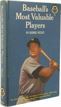 """Autographs:Others, Mickey Mantle Signed Book. Part of the """"Little League Library,""""this book called Baseball's Most Valuable Players by Ge..."""