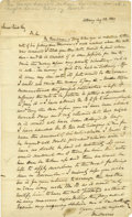 "Autographs:Statesmen, Lincoln Friend Ira Harris Autograph Letter Signed, one page, 8"" x13"", Albany, New York, August 22, 1839, to a James Reid. T..."