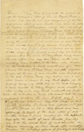 """Autographs:Inventors, Samuel F. B. Morse Document Signed, """"Sam. F. B. Morse,"""", two pages, 8"""" x 12.5"""", n.p., October 18, 1841. A commitment pap..."""