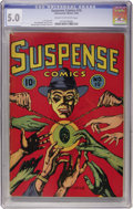 Golden Age (1938-1955):Crime, Suspense Comics #10 (Continental Magazines, 1945) CGC VG/FN 5.0 Cream to off-white pages....