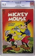 Golden Age (1938-1955):Funny Animal, Four Color #181 Mickey Mouse in Jungle Magic (Dell, 1948) CGC VF+8.5 Off-white pages....