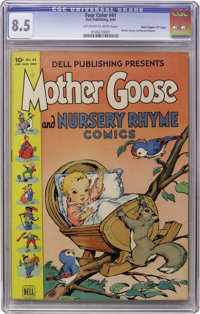 """Four Color #41 Mother Goose and Nursery Rhyme Comics (#1) Davis Crippen (""""D"""" Copy) pedigree (Dell, 1944) CGC V..."""
