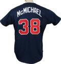 Baseball Collectibles:Uniforms, 1995 Greg McMichael Batting Practice Worn Jersey. The Atlanta Braves reliever Greg McMichael made a decent contribution to ...