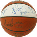 Basketball Collectibles:Balls, 1992 Chicago Bulls Team Signed Basketball. The NBA Champs arerepresented here with a Spalding indoor/outdoor basketball sig...