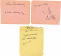 Autographs:Index Cards, 1930s-40s St. Louis Cardinals Team Signed Sheets Lot of 3. Three sheets signed by vintage members of the St. Louis Cardina...
