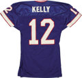 Football Collectibles:Uniforms, 1991-93 Jim Kelly Game Worn Jersey A5. Hall of Fame quarterback Jim Kelly basically dominated the AFC during the early 1990...