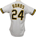 Baseball Collectibles:Uniforms, 1991 Barry Bonds Game Worn Jersey. Coming off his first of seven NL MVP Awards that he won in 1990, Barry Bonds continued h...