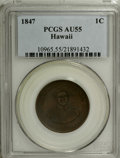 Coins of Hawaii: , 1847 1C Hawaii Cent AU55 PCGS. PCGS Population (27/202). NGCCensus: (20/102). Mintage: 100,000. (#10965)...