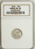 Barber Dimes: , 1916 10C MS66 NGC. NGC Census: (34/7). PCGS Population (32/5). Mintage: 18,490,000. Numismedia Wsl. Price for NGC/PCGS coin...