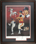 Autographs:Others, Nolan Ryan Signed Artist's Proof Lithograph by Paluso. With a skilland humanity reminiscent of the great Saturday Evening ...