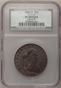 1806 50C 6 Over Inverted 6--Graffiti--NCS. XF Details....(PCGS# 6078)