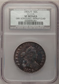 Early Half Dollars, 1806 50C 6 Over Inverted 6--Obverse Scratched, ImproperlyCleaned--NCS. XF Details....