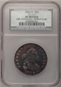 1806 50C 6 Over Inverted 6--Obverse Scratched, Improperly Cleaned--NCS. XF Details....(PCGS# 6078)