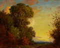 Paintings, ROBERT WILLIAM WOOD (American, 1889-1979). Sunset in Texas. Oil on canvas. 16 x 20 inches (40.6 x 50.8 cm). Signed lower...