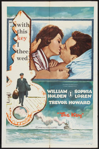 "The Key (Columbia, 1958). One Sheet (27"" X 41""). Romance"