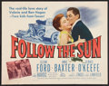 "Movie Posters:Sports, Follow the Sun (20th Century Fox, 1951). Half Sheet (22"" X 28""). Sports.. ..."