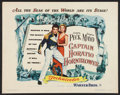 "Movie Posters:Adventure, Captain Horatio Hornblower (Warner Brothers, 1951). Half Sheet (22""X 28""). Adventure.. ..."