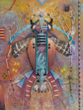Western:20th Century, TOM PERKINSON (American, b.1940). Shaman I. Mixed media sculpture on board. 20 x 15 inches (50.8 x 38.1 cm). Signed lowe...