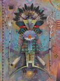 Paintings, TOM PERKINSON (American, b. 1940). Shaman II. Mixed media sculpture on board . 20 x 15 inches (50.8 x 38.1 cm). Signed l...