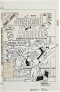 Original Comic Art:Covers, Dan DeCarlo and Jim DeCarlo Jughead with Archie Digest #89Cover Original Art (Archie, 1988)....
